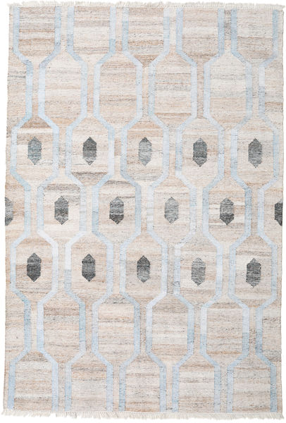 Cosmou - Light Blue Rug 200X300 Authentic  Modern Handwoven Light Grey/White/Creme ( India)