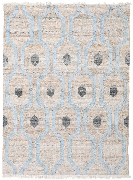 Cosmou - Light Blue Rug 170X240 Authentic  Modern Handwoven White/Creme/Light Grey/Light Blue ( India)