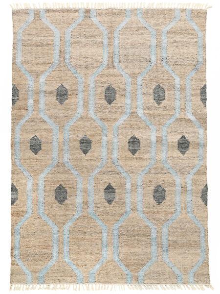 Cosmou - Licht Blauw Tapijt 170X240 Echt Modern Handgeweven Wit/Creme/Lichtgrijs/Lichtblauw ( India)