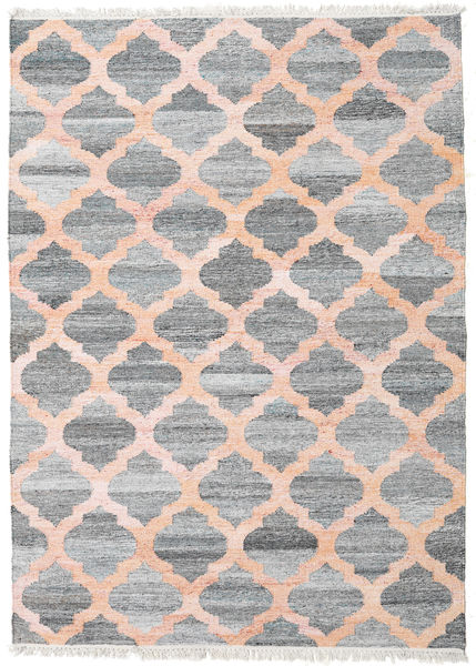 Kathi - Grey/Coral Rug 170X240 Authentic  Modern Handwoven Light Grey/Light Pink ( India)