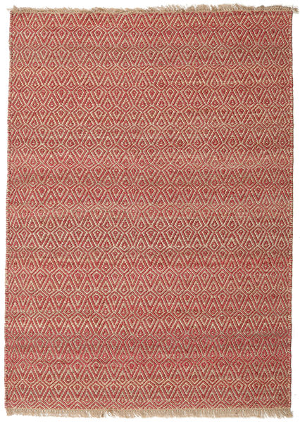 Jaque Jute Rug 170X240 Authentic  Modern Handwoven Rust Red/Dark Red ( India)
