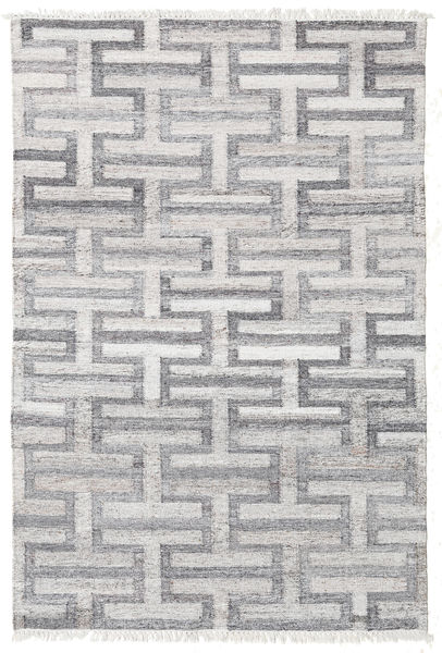 Path - Grey Rug 140X200 Authentic  Modern Handwoven Light Grey/Beige ( India)