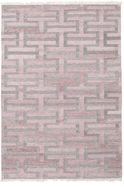Path - 茶/ピンク 絨毯 140X200 モダン 手織り 暗めのベージュ色の/薄い灰色 ( インド)