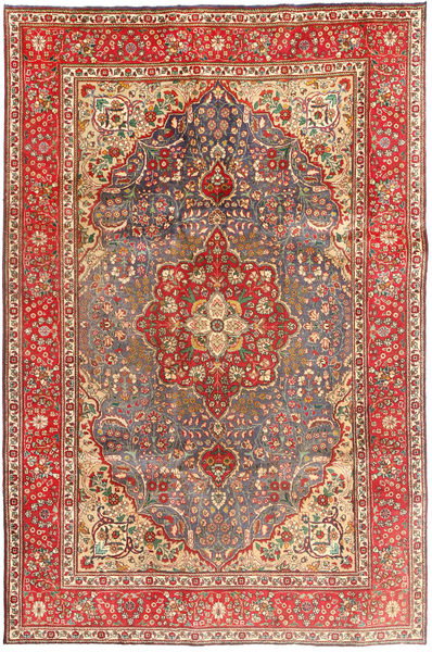Tabriz Rug 204X310 Authentic  Oriental Handknotted Dark Red/Light Brown (Wool, Persia/Iran)
