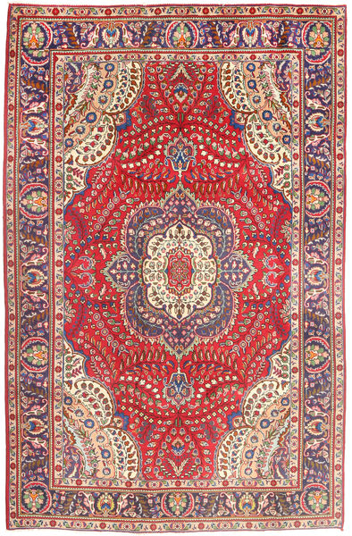 Tabriz Rug 197X299 Authentic  Oriental Handknotted Brown/Rust Red (Wool, Persia/Iran)