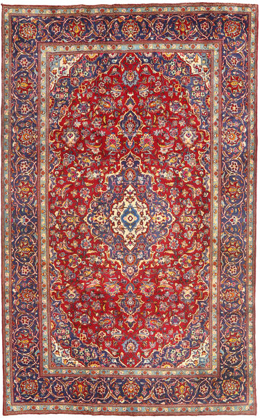 Yazd Rug 198X315 Authentic  Oriental Handknotted Dark Red/Rust Red (Wool, Persia/Iran)