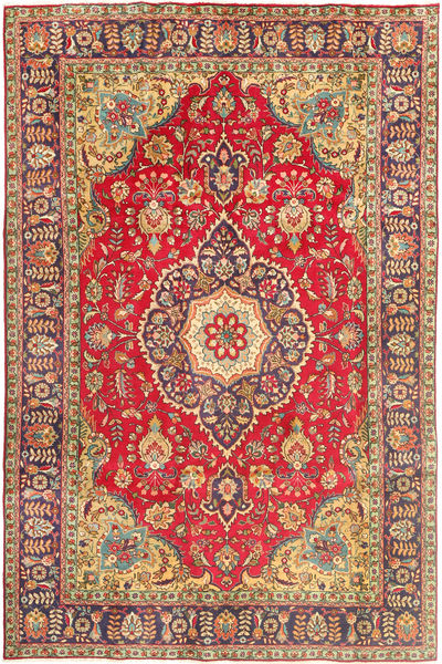 Tabriz Rug 200X302 Authentic  Oriental Handknotted Brown/Light Brown (Wool, Persia/Iran)
