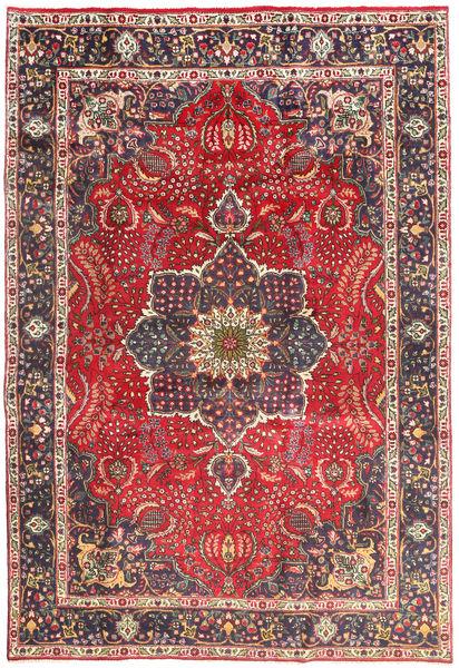 Tabriz Rug 202X301 Authentic  Oriental Handknotted Purple/Dark Red (Wool, Persia/Iran)