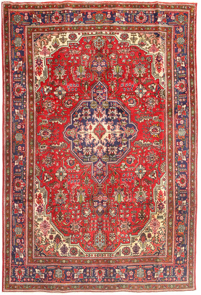 Tabriz Rug 196X288 Authentic  Oriental Handknotted Dark Red/Light Brown (Wool, Persia/Iran)