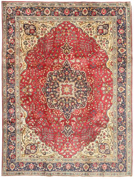 Tabriz Matto 244X330 Itämainen Käsinsolmittu Vaaleanruskea/Ruskea (Villa, Persia/Iran)