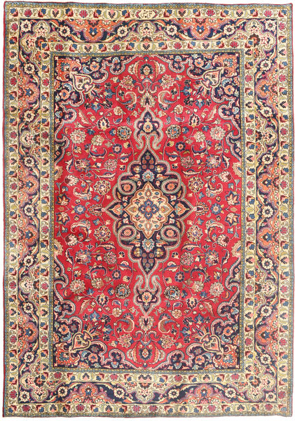 Tabriz Rug 197X288 Authentic  Oriental Handknotted Pink/Purple (Wool, Persia/Iran)