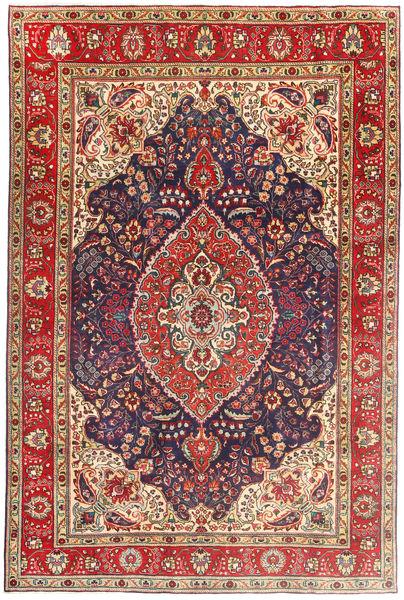 Tabriz Matto 199X305 Itämainen Käsinsolmittu Ruskea/Tummanvioletti (Villa, Persia/Iran)