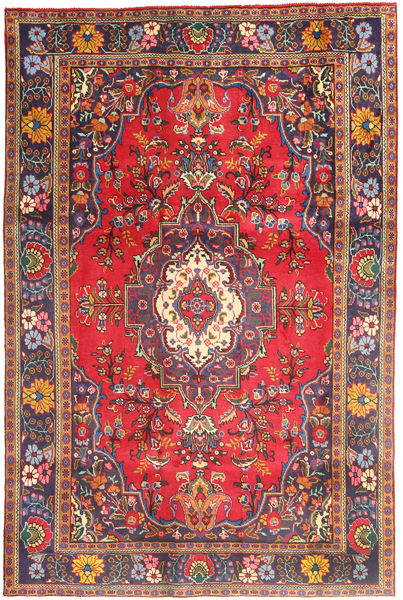 Tabriz Rug 200X294 Authentic  Oriental Handknotted Brown/Purple (Wool, Persia/Iran)