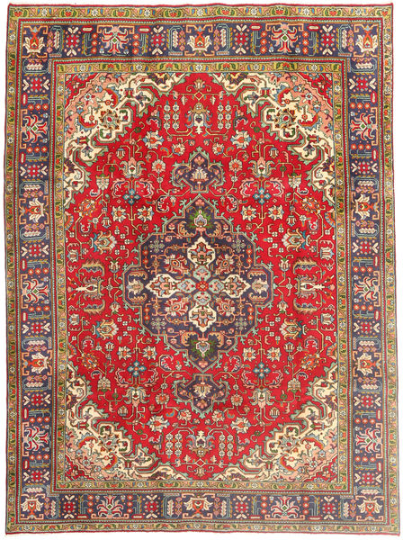 Tabriz Rug 209X293 Authentic  Oriental Handknotted Dark Red/Dark Blue (Wool, Persia/Iran)