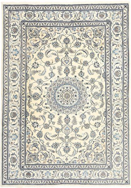 Nain Alfombra 199X285 Oriental Hecha A Mano Beige/Gris Claro (Lana, Persia/Irán)