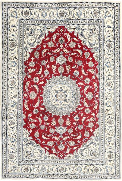 Nain Vloerkleed 199X297 Echt Oosters Handgeknoopt Beige/Lichtgrijs (Wol, Perzië/Iran)