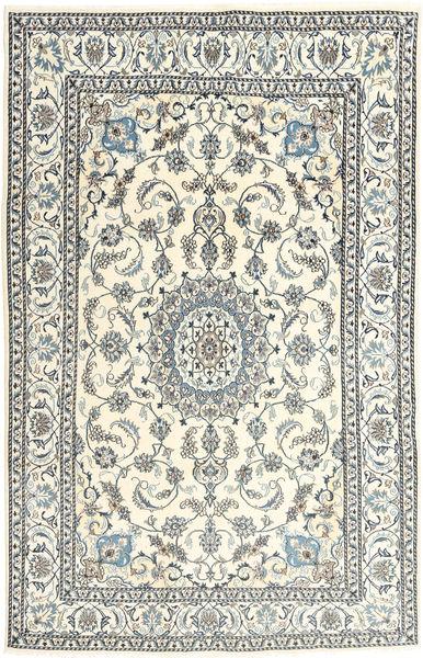 Nain Covor 193X296 Orientale Lucrat Manual Bej/Gri Deschis (Lână, Persia/Iran)