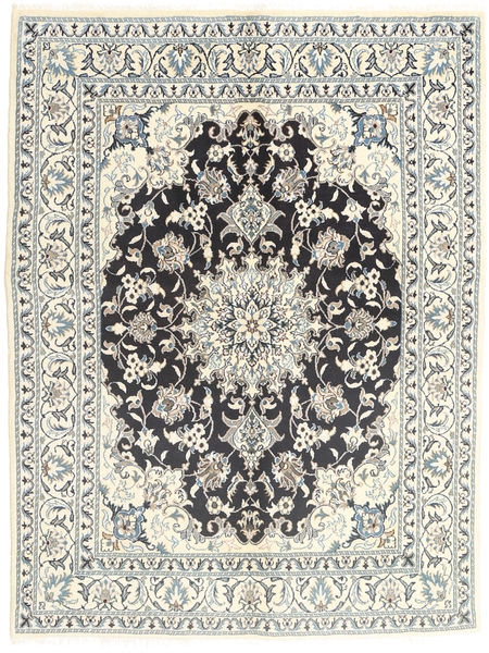 Nain Rug 145X196 Authentic  Oriental Handknotted Light Grey/Beige (Wool, Persia/Iran)