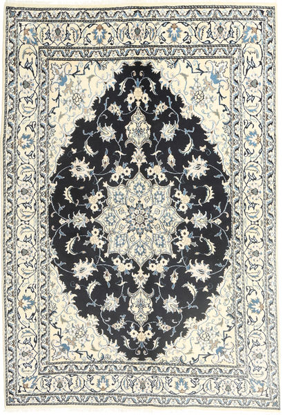 Nain Rug 165X235 Authentic  Oriental Handknotted Beige/Dark Grey/Light Grey (Wool, Persia/Iran)