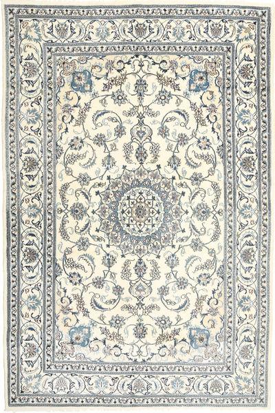 Nain Rug 198X301 Authentic  Oriental Handknotted Beige/Light Grey/Dark Grey (Wool, Persia/Iran)