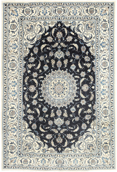 Nain Rug 192X288 Authentic  Oriental Handknotted Light Grey/Beige (Wool, Persia/Iran)