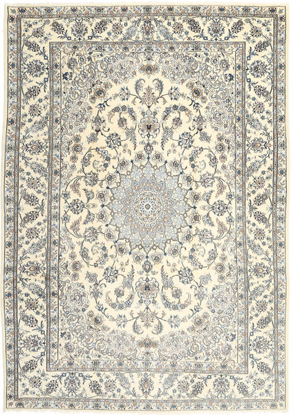 Nain Rug 245X349 Authentic  Oriental Handknotted Beige/Light Grey (Wool, Persia/Iran)