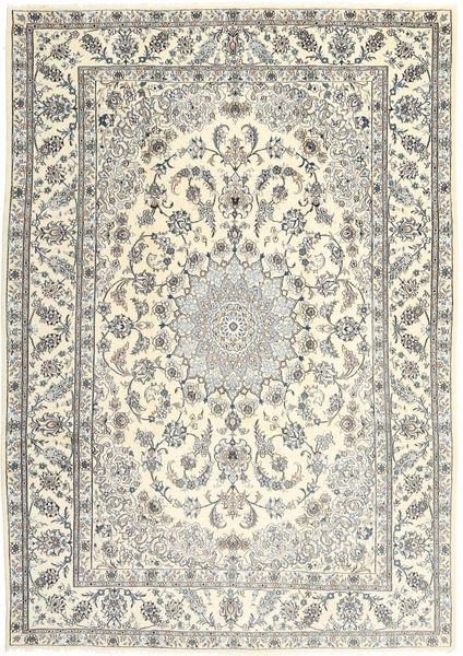 Nain Dywan 245X349 Orientalny Tkany Ręcznie Beżowy/Jasnoszary (Wełna, Persja/Iran)