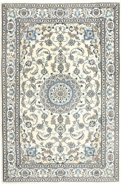 Nain Rug 197X300 Authentic  Oriental Handknotted Beige/Light Grey (Wool, Persia/Iran)