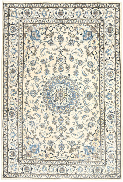Nain Rug 195X291 Authentic  Oriental Handknotted Light Grey/Beige (Wool, Persia/Iran)