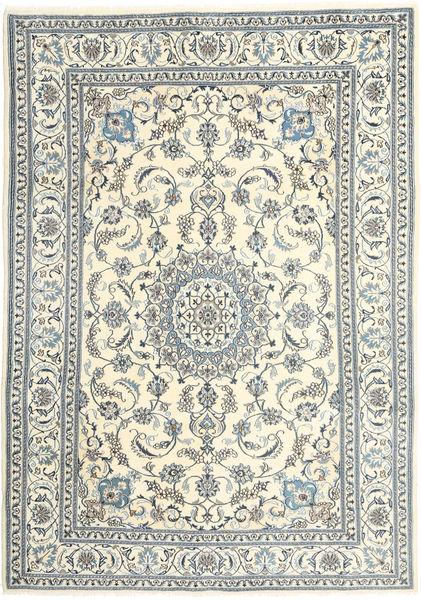 Nain Alfombra 200X285 Oriental Hecha A Mano Gris Claro/Beige (Lana, Persia/Irán)