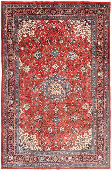 Mahal Matto 206X307 Itämainen Käsinsolmittu Tummanpunainen/Ruoste (Villa, Persia/Iran)