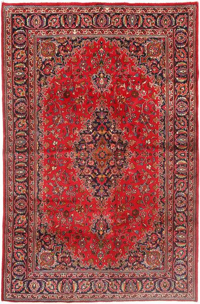 Mashad Matto 190X293 Itämainen Käsinsolmittu Ruskea/Tummanruskea (Villa, Persia/Iran)