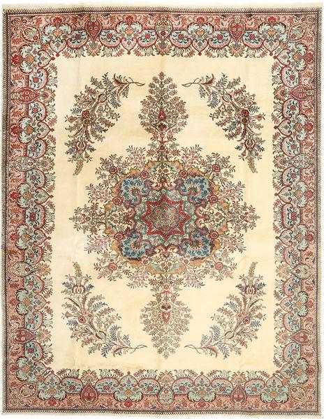 Kerman Matto 300X386 Itämainen Käsinsolmittu Beige/Vaaleanruskea Isot (Villa, Persia/Iran)