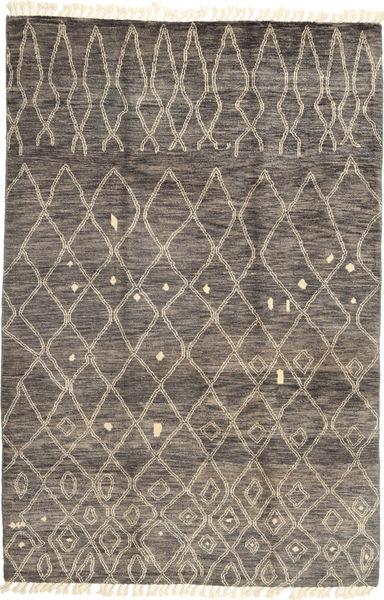 Barchi/Moroccan Berber - Pakistan Matto 203X303 Moderni Käsinsolmittu Vaaleanruskea/Tummanruskea (Villa, Pakistan)