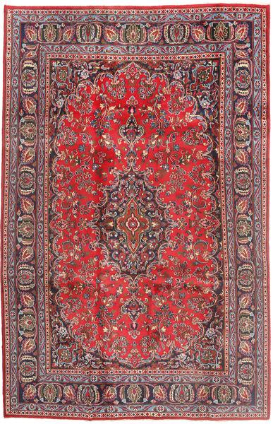 Mashad Teppe 187X293 Ekte Orientalsk Håndknyttet Mørk Rød/Mørk Blå (Ull, Persia/Iran)