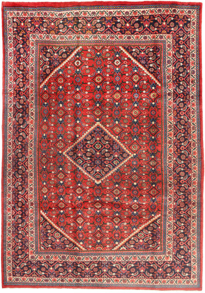 Mahal Rug 217X315 Authentic  Oriental Handknotted Dark Red/Rust Red (Wool, Persia/Iran)
