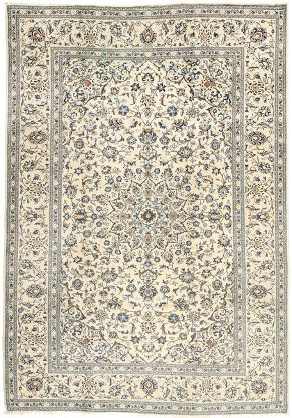 Keshan Matta 202X295 Äkta Orientalisk Handknuten Beige/Ljusgrå (Ull, Persien/Iran)