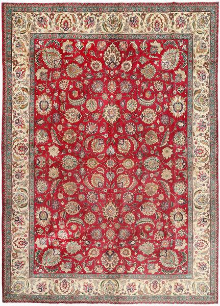 タブリーズ 絨毯 300X410 オリエンタル 手織り 濃い茶色/薄茶色 大きな (ウール, ペルシャ/イラン)
