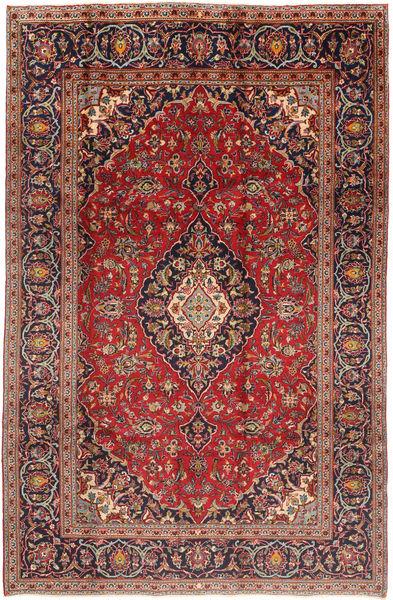 Keshan Matta 197X300 Äkta Orientalisk Handknuten Mörkröd/Mörkbrun (Ull, Persien/Iran)