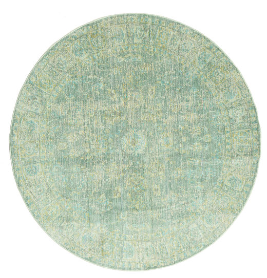 Maharani - Zielony Dywan Ø 150 Nowoczesny Okrągły Pastel Zielony ( Turcja)