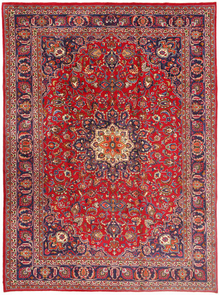 Mashad Rug 257X352 Authentic  Oriental Handknotted Dark Red/Rust Red Large (Wool, Persia/Iran)