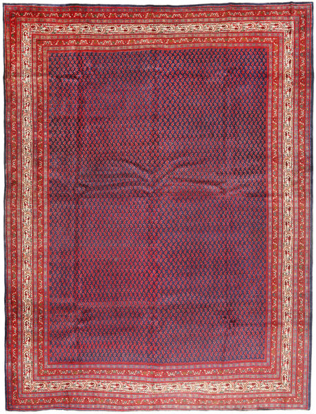 Sarouk Mir Rug 315X405 Authentic  Oriental Handknotted Dark Purple/Dark Red Large (Wool, Persia/Iran)