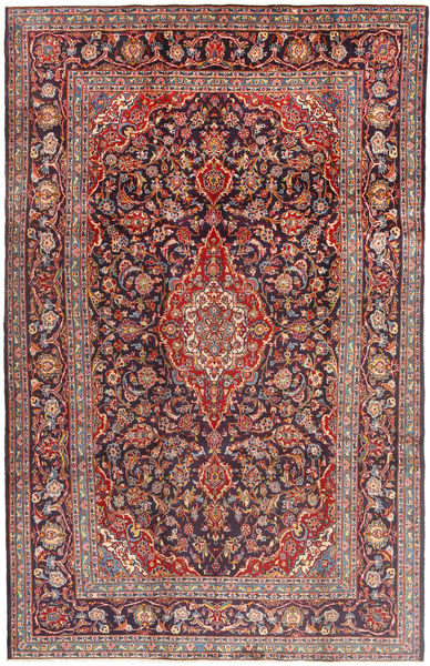 Keshan Rug 210X330 Authentic  Oriental Handknotted Brown/Dark Purple (Wool, Persia/Iran)