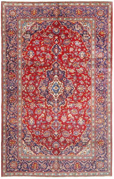 カシャン 絨毯 196X310 オリエンタル 手織り 錆色/濃いグレー (ウール, ペルシャ/イラン)