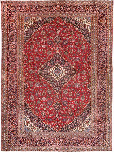カシャン 絨毯 285X395 オリエンタル 手織り 茶/深紅色の 大きな (ウール, ペルシャ/イラン)