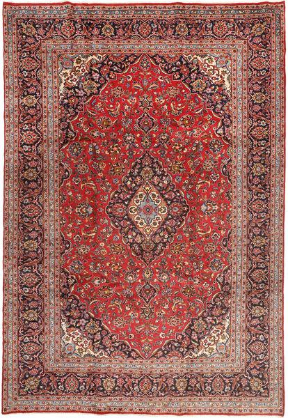 Yazd Teppe 243X358 Ekte Orientalsk Håndknyttet Rust/Mørk Blå (Ull, Persia/Iran)