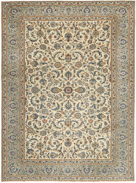 Keshan Patina Rug 283X385 Authentic  Oriental Handknotted Light Brown/Dark Grey Large (Wool, Persia/Iran)