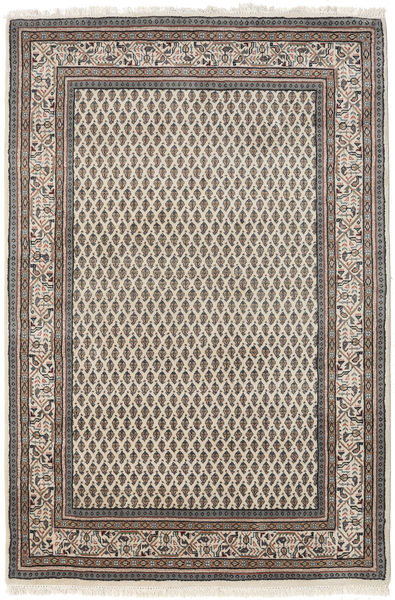 Mir Indo Rug 123X184 Authentic  Oriental Handknotted Light Brown/Dark Grey (Wool, India)