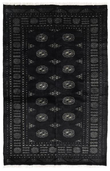 Pakistan Bokhara 3Ply Matto 139X212 Itämainen Käsinsolmittu Musta/Tummanharmaa (Villa, Pakistan)