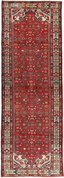 Hosseinabad Matto 108X321 Itämainen Käsinsolmittu Käytävämatto Tummanpunainen/Tummanruskea (Villa, Persia/Iran)